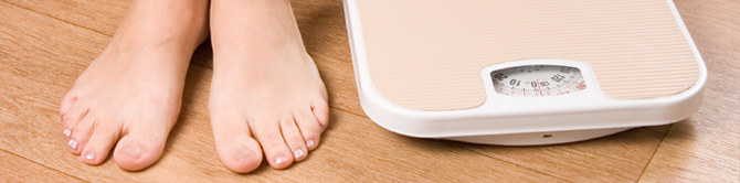 Weighing scale and feet